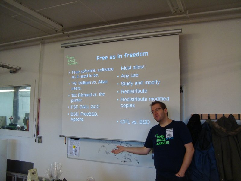Flemming Frandsen speaks about Free Software