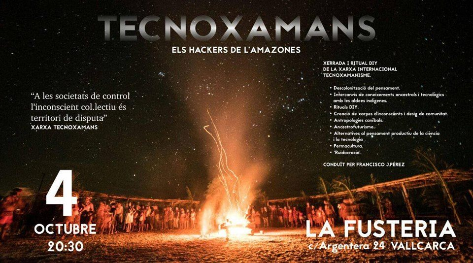Technoshamanism event in Barcelona, october 4.