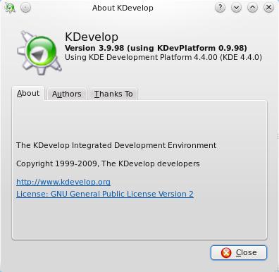 KDevelop 4 beta8