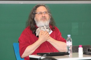 RMS and the adorable, adorable GNU