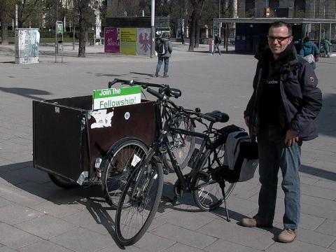 Our borrowed bike for heavy loads