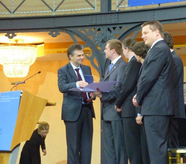 The handover ceremony