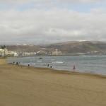 Empty beach of Las Palmas