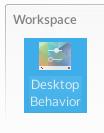 System settings Desktop Behavior entry