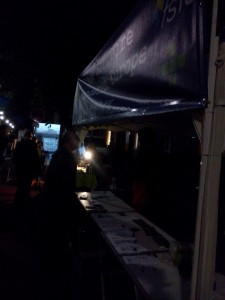 booth work until way after sunset