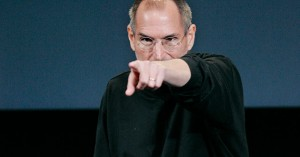 Steve Jobs pointing his finger