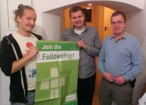 Fellowship Posterübergabe an die Gruppe Linz