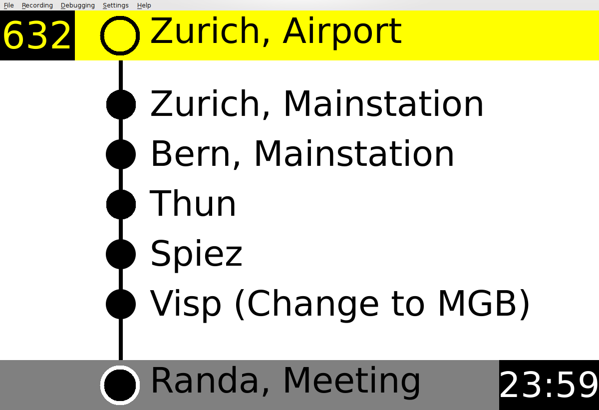 Public transport stop information