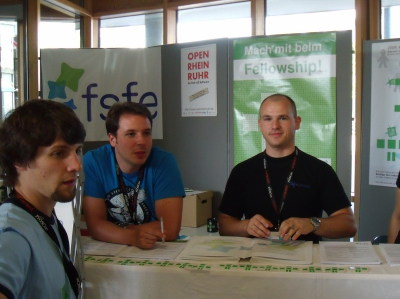 Booth of FSFE at Froscon 2009