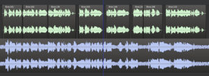 Detail of the added spaces in the voice track
