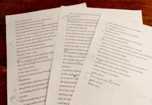 Notes taken during the recording and editing process.