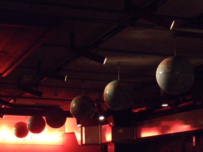 Globes against the light