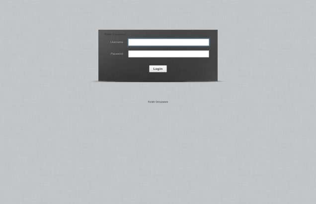 The Kolab Roundcube login page
