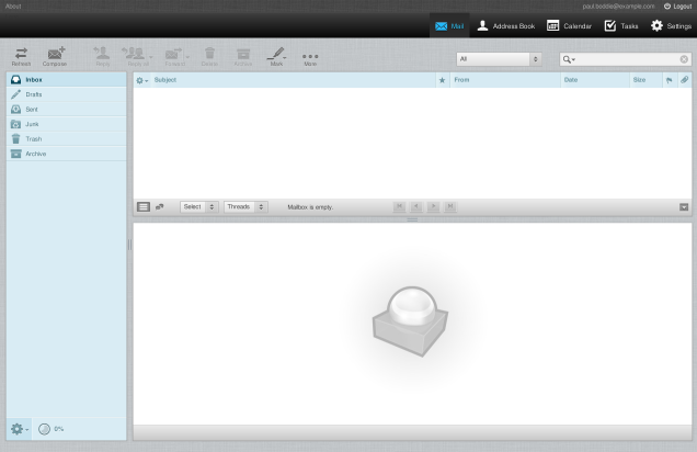 The Kolab Roundcube mail interface