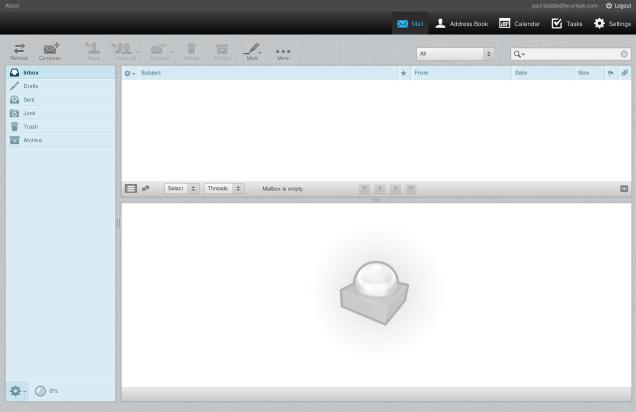 The Kolab Roundcube mail interface