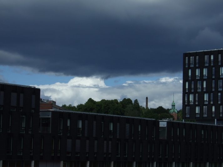 Clouds over the IT building, University of Oslo