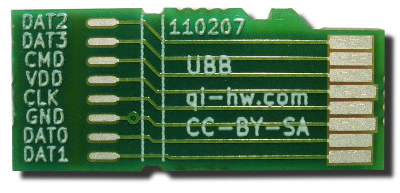 The Universal Breakout Board that plugs into the 8:10 (microSD) slot