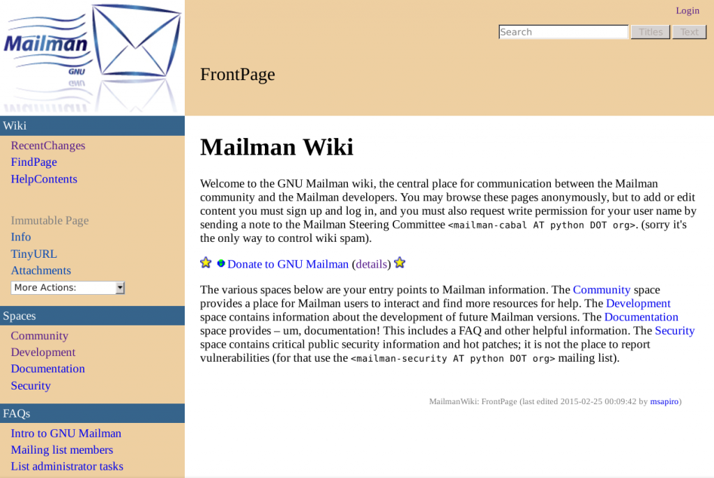 The all-new Mailman Wiki with Jim Tittsler's theme