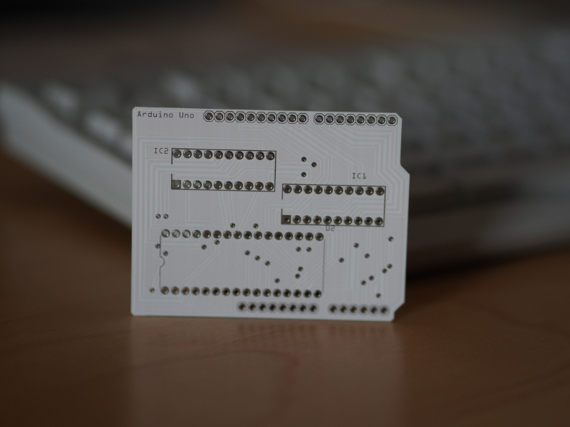 The finished PCB from Fritzing