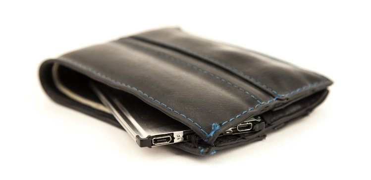 An EOMA68 computer card in a wallet