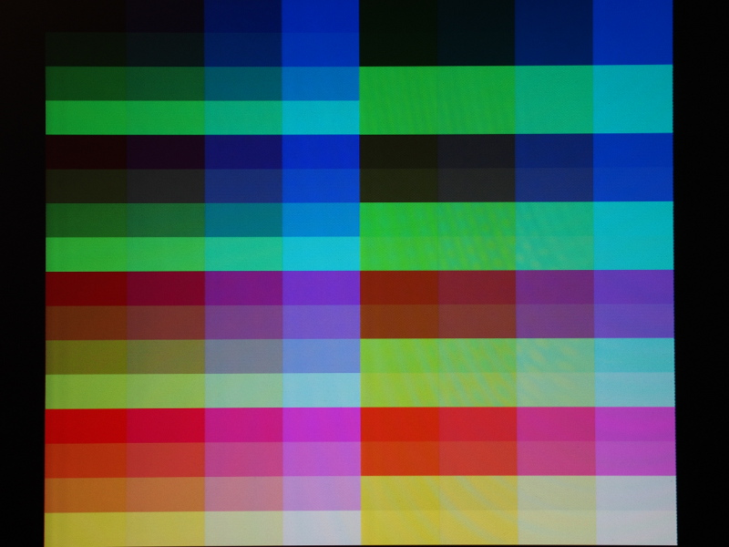 The 2-bit-per-channel plus intensity colours