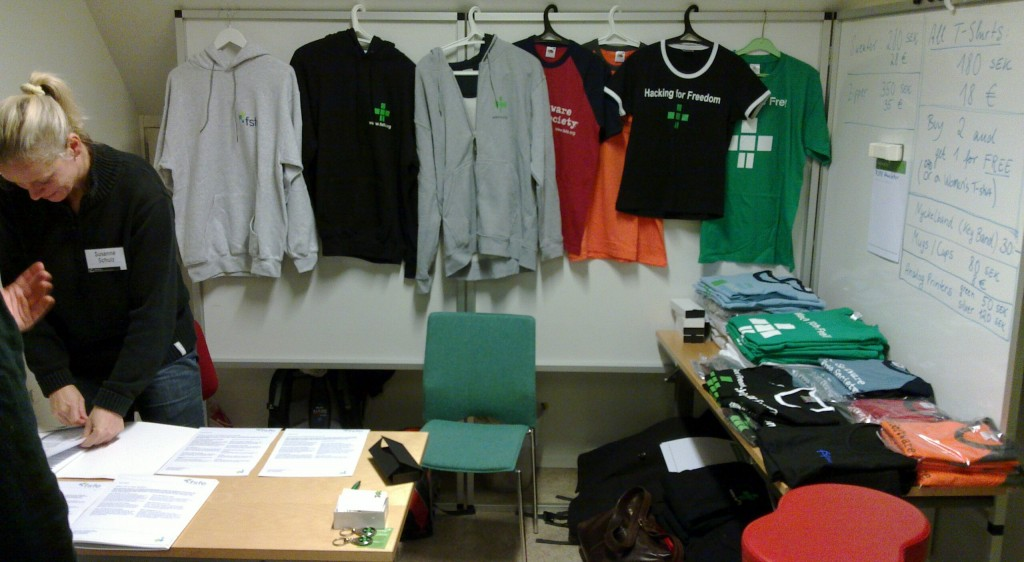 The FSFE booth