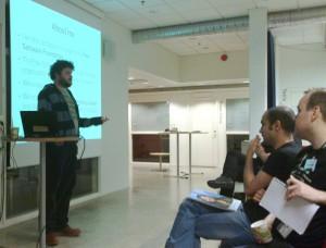 Matt Lee talking about GNU FM and GNU social