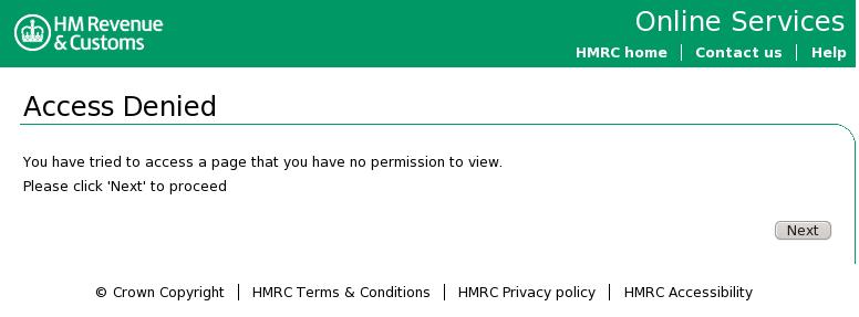Access denied screenshot