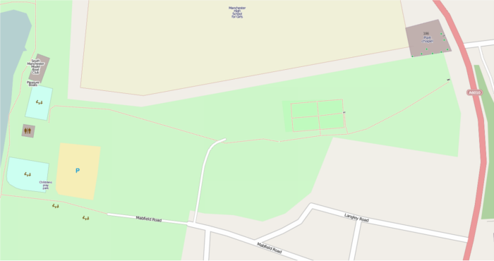 OSM mapped area