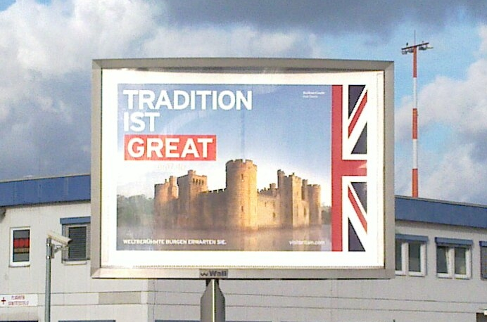 Advert for GB on billboard in Berlin