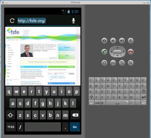 android emulator screenshot