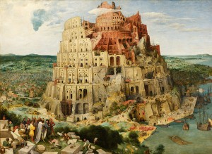 "Painting ""The Tower of Babel"" by Pieter Brueghel the Elder (1526/1530–1569)"
