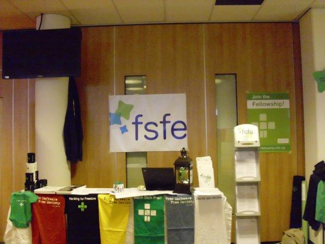 FSFE-Stand auf der T-DOSE 2012