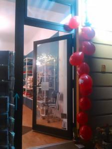 Eingang zum Schätzchen mit I love Free Software Ballons